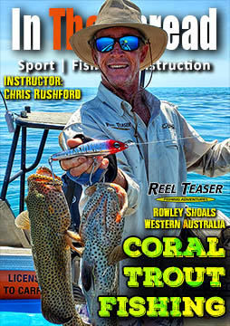 reef fishing coral trout in the spread reel teaser chris rushford ross newton